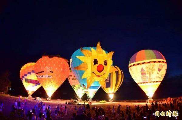 台東熱氣球光雕音樂會首場將移師台北舉辦。(記者張存薇攝)