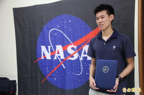 邱紳騏從小立志當太空人,小名就叫]NASA。(記者黃明堂攝)