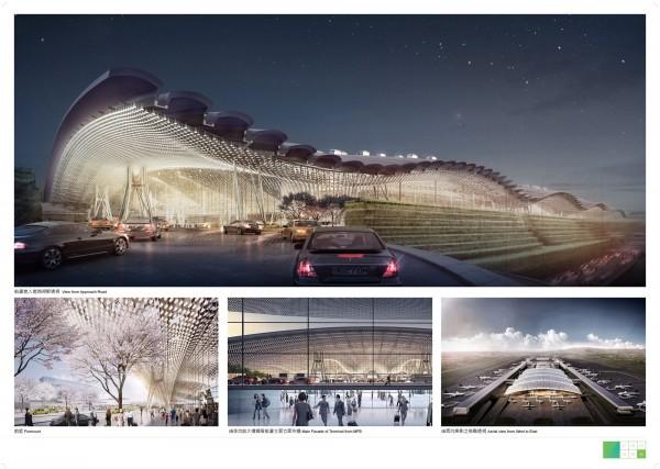融入台灣意象設計的桃園機場第3航廈將於明天動工。(翻攝自桃機網站)