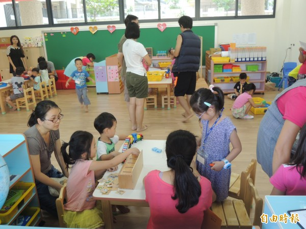 新竹縣教育處政府統計,竹北市公、私立幼兒園核定招生數合計雖有8900人,但公幼名額僅約7.9%,比例偏低。(記者廖雪茹攝)