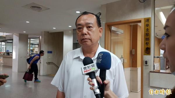 前軍情局長葛廣明,今天以告訴人身分出庭。(記者錢利忠攝)