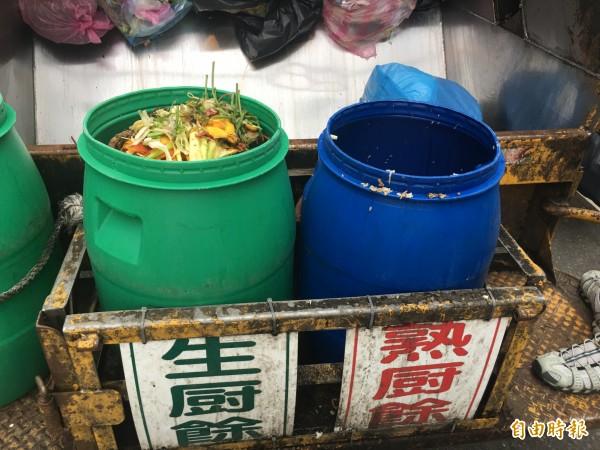 為降低垃圾量,斗南鎮擴大廚餘回收,每月廚餘回收量約7、80公噸。(記者黃淑莉攝)