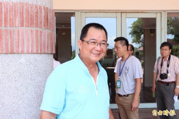 宜蘭縣三鄉長聯盟共推謝燦輝參加民進黨黨內下屆縣長初選。(記者林敬倫攝)