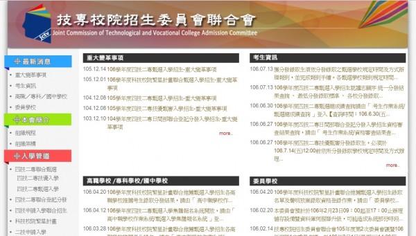 技專校院招生委員會聯合會今天公布四技二專甄選入學榜單。(圖取自網路)