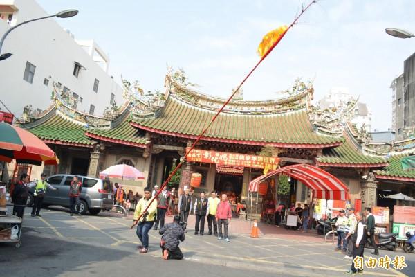 彰化市公所代管包括南瑤宮等16間寺廟,都不會北上參加抗議活動。(記者湯世名攝)