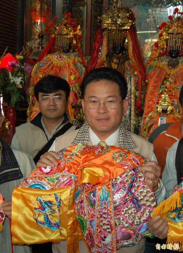 彰化市長邱建富指「滅香滅爐」純屬謠言,南瑤宮等16間寺廟都不會北上凱道。(記者湯世名攝)
