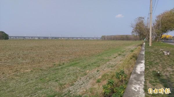 彰南產業園區位置在溪州鄉水尾村,占地98.28公頃,原是台糖的水尾農場。(記者張聰秋攝)