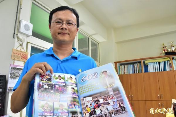 李智凱體育班導師張智傑。(記者張議晨攝)