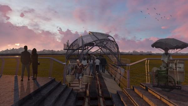 立委蘇治芬說,將來復興鐵橋活化後將成為台灣的High Line Park(高空公園)。(圖由建築師廖偉立提供)