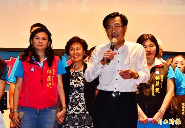 林燕祝在永康舉辦餐會,前議長李全教到場。(記者吳俊鋒攝)