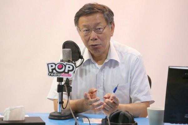 「裝病說」引發爭議,台北市長柯文哲今首度公開對前總統陳水扁致歉。(台北市政府提供)
