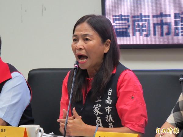 國民黨市議員王家貞。(資料照,記者蔡文居攝)