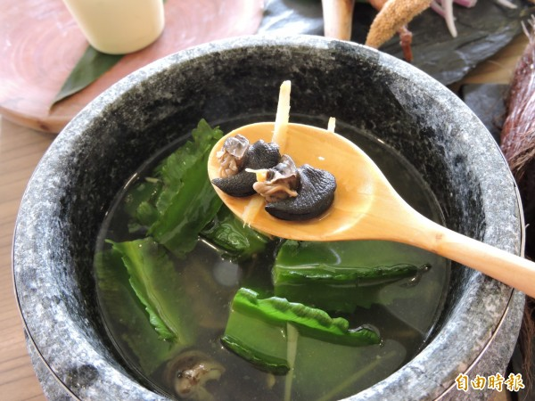 翼豆蝸牛湯在都會區很難見到。(記者張存薇攝)