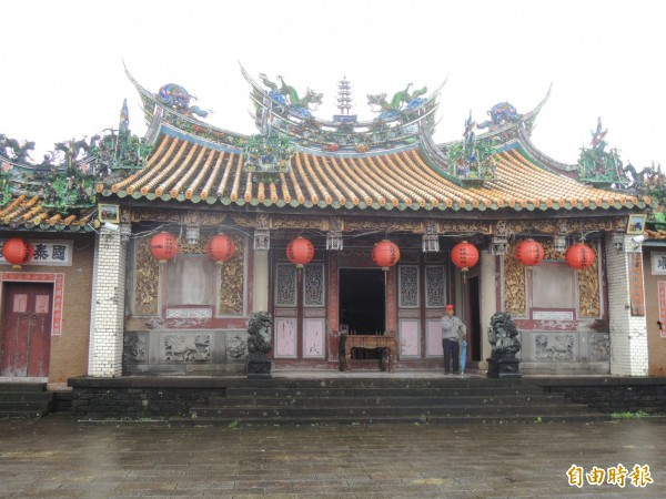 二結王公廟舊廟獲得保存。(記者江志雄攝)