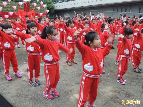 羅東鎮立幼兒園小朋友。(記者江志雄攝)