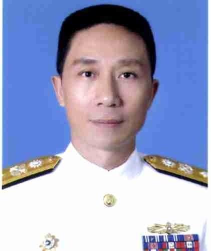 新任海軍艦隊指揮官劉志斌中將。(圖:國防部提供)。