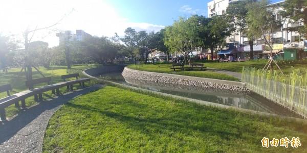 宜蘭護城河重見天日後,勇奪公共工程優質獎。(記者簡惠茹攝)