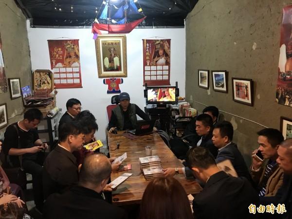 白沙屯媽祖婆網站推廣宗教文化,中國廣東湛江市文創考查參訪團前來取經。(記者蔡政珉攝)