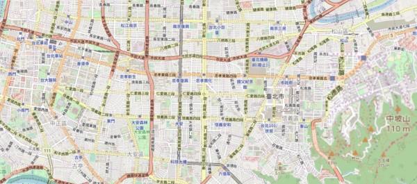 Pokemon GO的遊戲地圖,從原先採用的Google map地圖資料變成 OpenStreetMap地圖資料。(翻攝自OpenStreetMap)