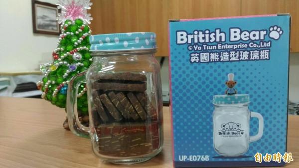 台南啟智學校義賣餅乾為孩子給力。(記者洪瑞琴攝)