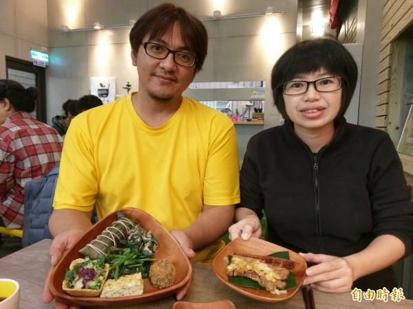 慢午廚房是布農族人松芳古和妻子林佩蓉一起經營的原民風味小餐館。(記者劉濱銓攝)