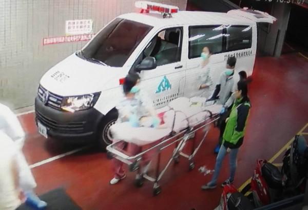 楊小妹妹送往彰基兒童醫院急救。(記者湯世名翻攝)