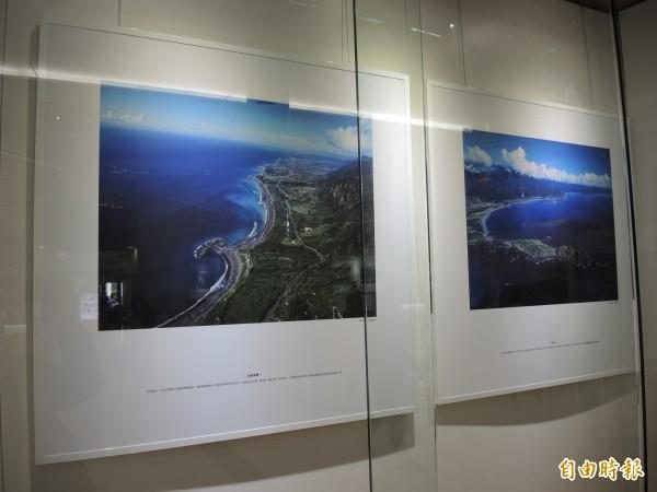 台東縣政府將齊柏林未曾曝光的作品公開展出。(記者翁聿煌攝)