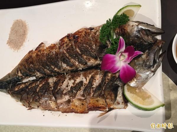 阿泰烤鯖魚精選挪威鯖魚,油花夠,肉質佳。(記者蔡宗勳攝)