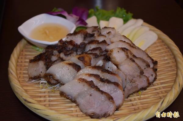 鹹豬肉也是傳統台菜的經典之一。(記者張瑞楨攝)