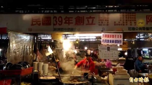 阿來羊肉隱身在傳統市場內。(記者張聰秋攝)