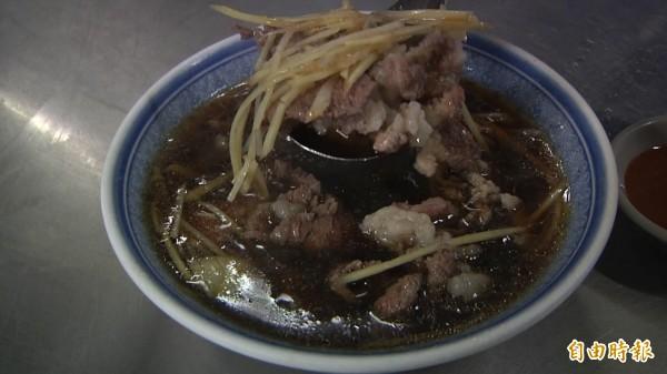 花壇150元羊肉湯。(記者張聰秋攝)