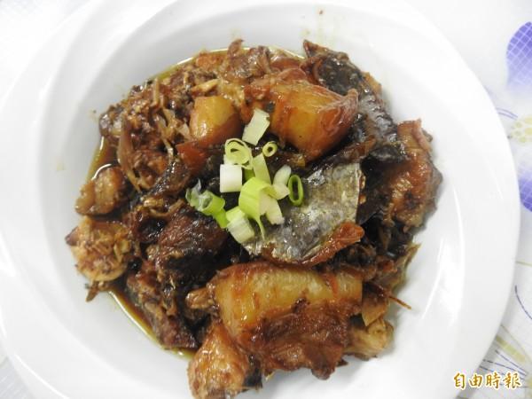 澎湖名菜象魚乾滷肉。(記者方志賢攝)