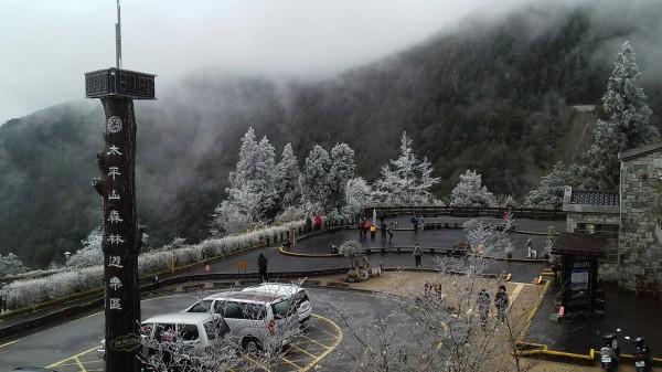太平山今天的景致。(記者江志雄翻攝)