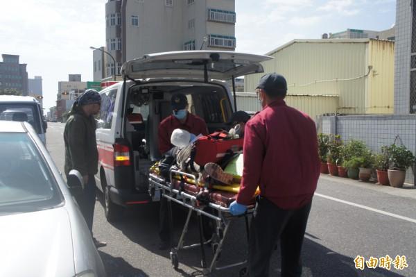 馬公市光明里長者共餐活動,傳出羅姓婦人異物梗塞緊急送醫。(記者劉禹慶攝)