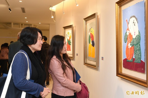 西班牙國寶級藝術大師皇.雷普耶斯Juan Garcia Ripolles特展今天起在林森三路172號人文遠雄博物館高雄分館展出。(記者張忠義攝)