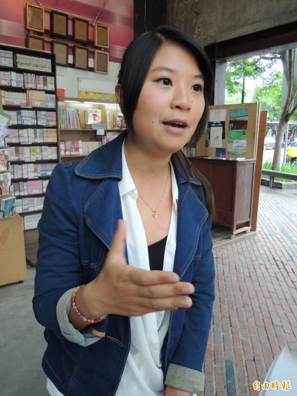 宜蘭縣議員薛呈懿宣布參選下屆羅東鎮長。(記者江志雄攝)