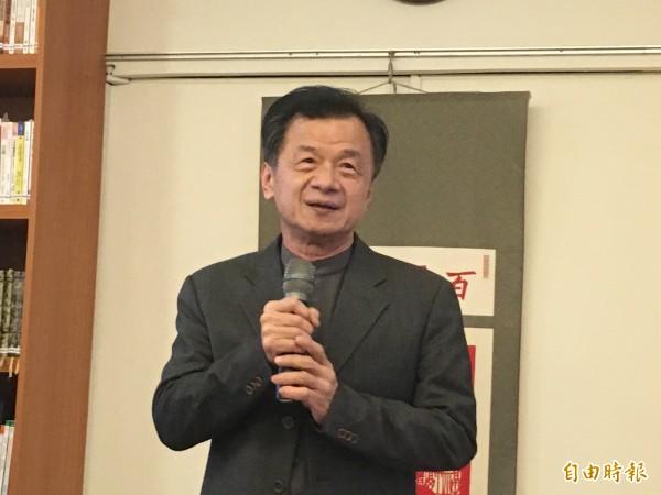 法務部長邱太三回應陳師孟,只說「打口水戰是在浪費生命」。(記者張文川攝)
