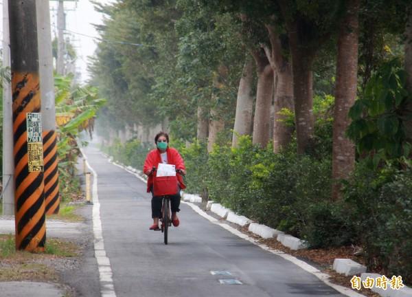 埔心鄉自行車道由台糖五分車道改建。(記者陳冠備攝)
