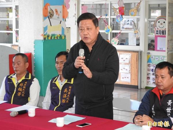 埔里鎮長周義雄宣布自106學年度下學期起,鎮立幼兒園推動免費營養午餐政策。(記者佟振國攝)