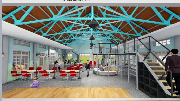 青少年圖書館空間規畫模擬圖。(台南市立圖書館提供)