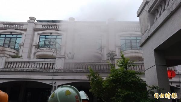 被列為虎尾高級住宅的雲頂社區傳出火災。(記者廖淑玲攝)