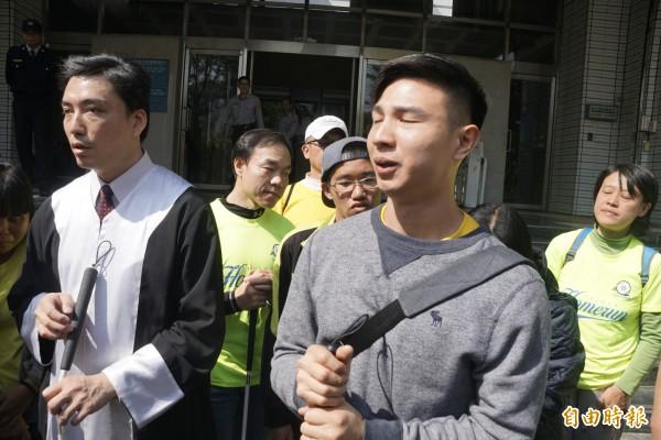 前手球國手陳敬鎧涉詐保案,二審仍宣判他有罪。(記者黃佳琳攝)