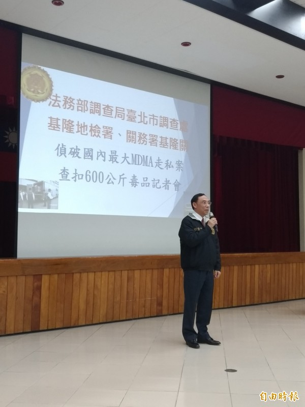調查局局長蔡清祥表示洗錢防制組已啟動偵辦金流。(記者吳政峰攝)