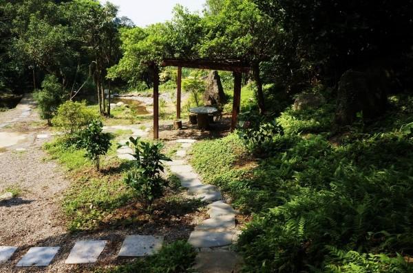 土城媽祖田水生態親子公園佔地兩百七十七坪,是由土城總體營造協會與社區民眾共同打造的綠地。(新北市城鄉局提供)