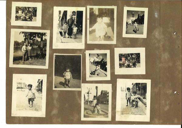 李建畿家族的照片可以窺見日治昭和時期林百貨與末廣町的景象。(記者劉婉君翻攝)
