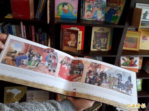 林群期許透過文字、語言的交流,讓台灣新住民之子也能認識、了解「媽媽」家鄉的文化和故事。(記者洪美秀攝)