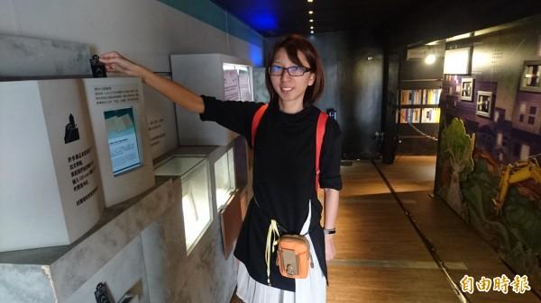 台灣文學行動博物館,以數位、互動設計,讓觀眾了解台灣文學。(記者楊金城攝)