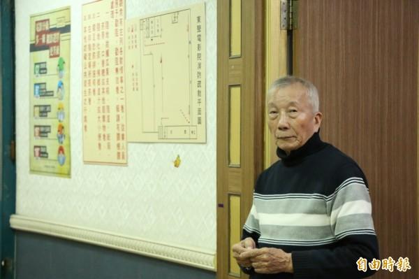 88歲的徐琳彬從17歲就北上學電影,一生見證台灣電影史的發展。(記者鄭名翔攝)
