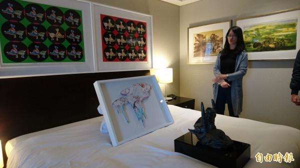 台南藝術博覽會將在大億麗緻酒店展出。(記者劉婉君攝)