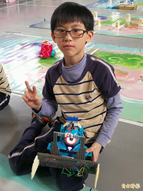 有得國小參加Google機器人競賽挺進全球決賽。(記者許倬勛攝)